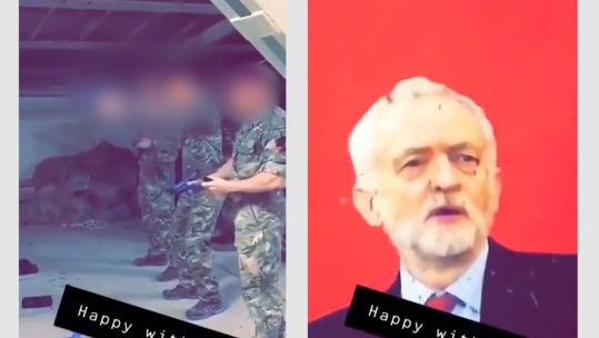 3 Para soldiers in Kabul shooting at Corbyn poster 030419 SOURCE Unknown