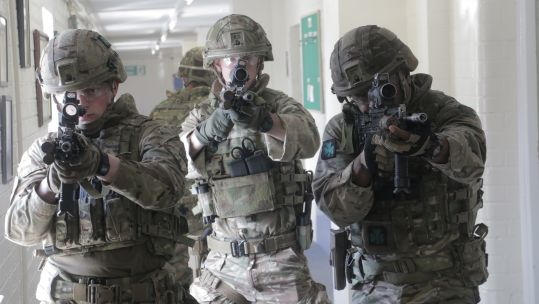 Three soldiers from 1st Battalion The Royal Irish Regiment