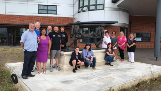 Fundraisers at Chavasse VC House in Colchester for Help for Heroes Discovery Day