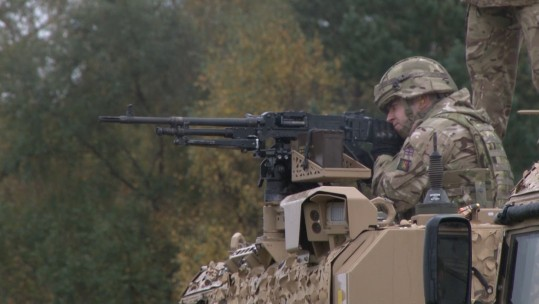 3 SCOTS practice with machine guns on training in Cumbria