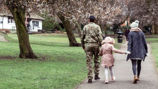 Parents Child Adoption Walking Outside Blossom Can I Adopt While In The Military Tim Humphries Credit: SSAFA