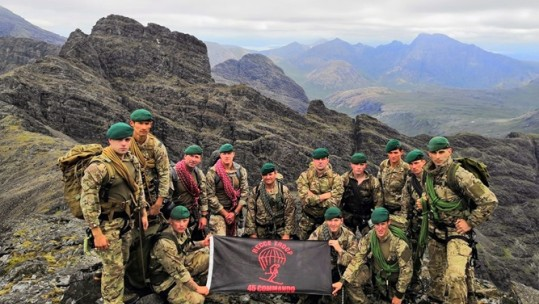 45 Commando's Recce Troop on Cuillin Ridge (Picture: Royal Navy).