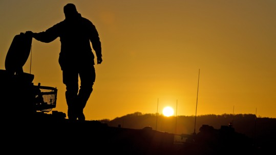 Soldier silhouetted ANON