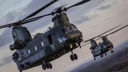 45166217 RAF Chinooks during Exercise Decisive Manoeuvre Defence Imagery