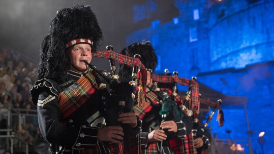 A Piper from the Royal Regiment of Scotland for Royal Edinburgh Military Tattoo Inauguration 2018 CREDIT MoD