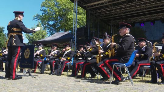 A band performed at the AFD event in Germany 300619 CREDIT BFBS.jpg