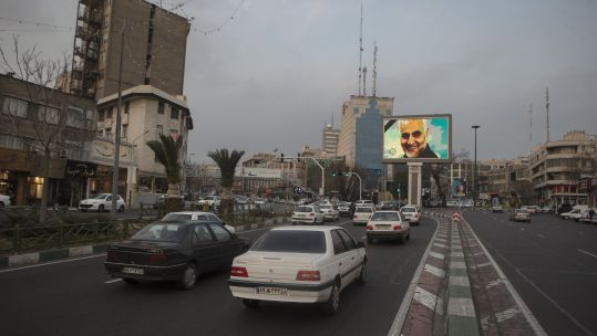 A picture of top Iranian General Qasem Soleimani is seen in Tehran, Iran 040120 CREDIT PA