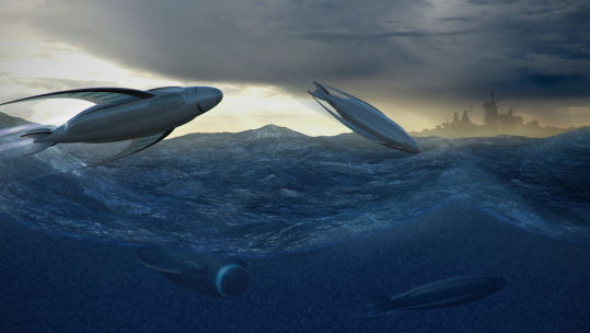 Royal Navy Submarine Concept Waves