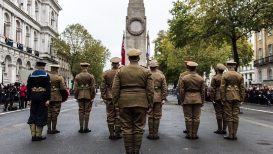 Remembrance Day 2017 at the Cenotaph (Picture: MOD).
