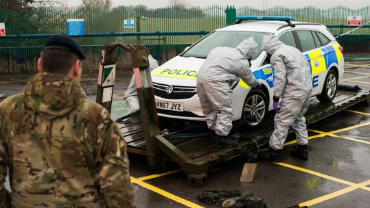 Vehicle testing in Salisbury after Novichok attack