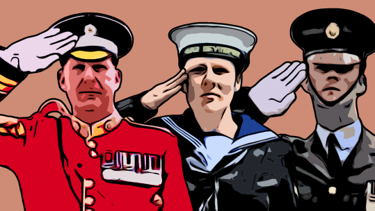 Graphic showing Armed Forces Salute