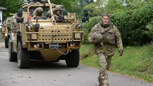 Cpl Kieran Welfoot uses Jackal to visit his parents
