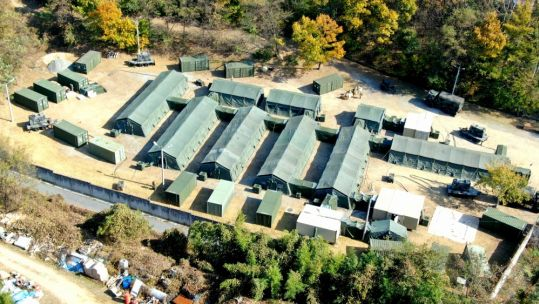 Aerial view of the 801st Combat Support Hospital during Operation Whiplash, Camp Carroll, South Korea, 151119 credit us department of defense