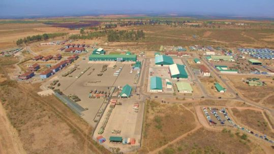 Aerial view of the new Nyati Barracks, Laikipia Air Base East, Kenya (Picture: MOD).