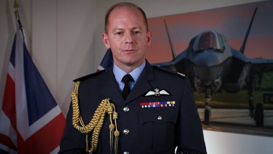 Air Chief Marshal Sir Mike Wigston Chief of the Air Staff, Royal Air Force speaking at Defence Space 2020 conference 171120 NO CREDIT .jpg