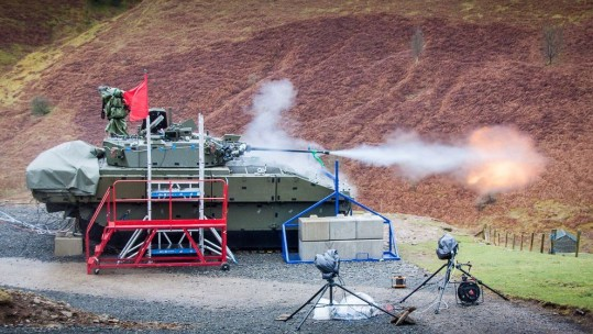 First Live Fire For British Army's Ajax