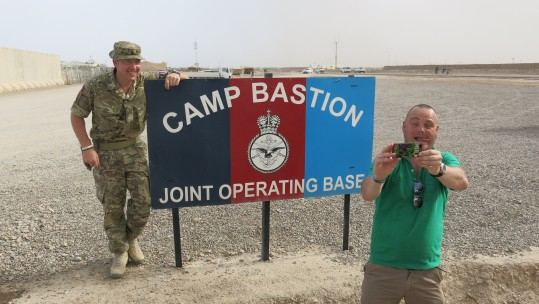 Al Murray In Afghanistan With CSE