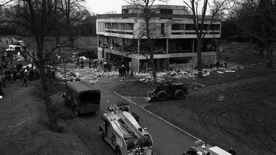 IRA Bomb Aldershot Barracks Black And White Image ref 1540815 Credit PA/PA Archive/PA Images