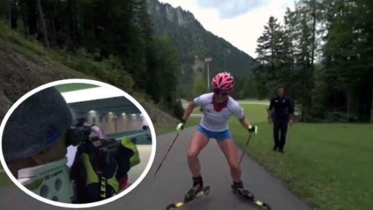 Amanda Lightfoot biathlon training