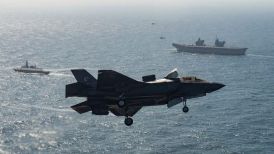 F-35s will operate from the UK's Queen Elizabeth class aircraft carriers for the next 50 years (Picture: Lockheed Martin/MOD).