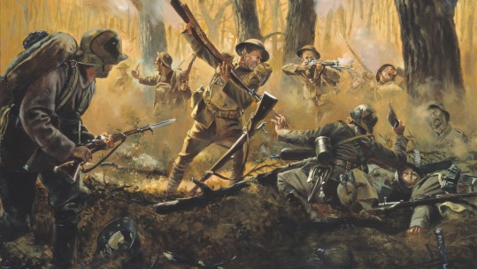 Americans_in_Champagne-Marne_offensive by Don Troiani