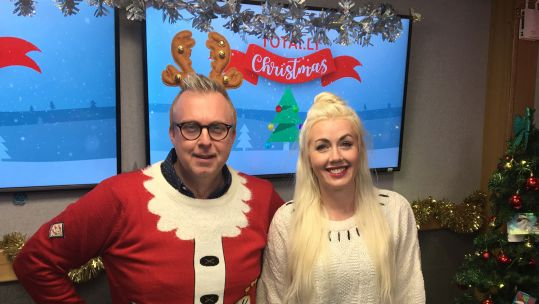 Amy Casey Warren Moore Forces Radio BFBS Totally Christmas Studio 2 Festive Live Simulcast BFBS TV