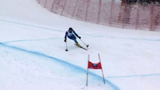The One-Legged Soldier Competing Against Able-Bodied Skiiers
