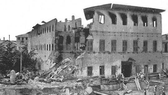 Anglo-Zanzibar War destroyed palace