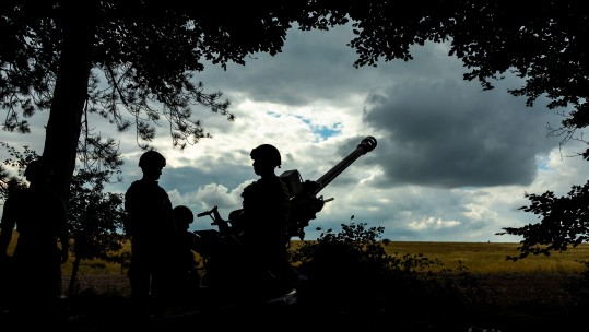 Anonymous - 29 Commando Regiment Royal Artillery live firing on Salisbury Plain - CREDIT Royal Navy