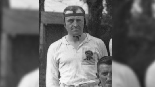 Arthur Harrison played as a prop and went on to serve with the Royal Navy (Picture: World Rugby Museum).
