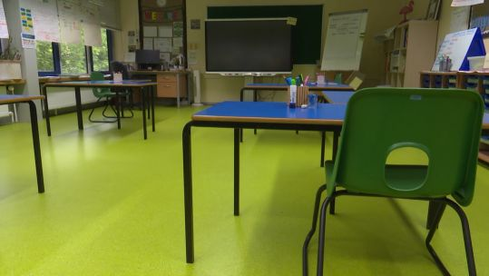 Attenborough School in Germany empty classroom COVID19 CORONAVIRUS 290520 CREDIT BFBS.jpg