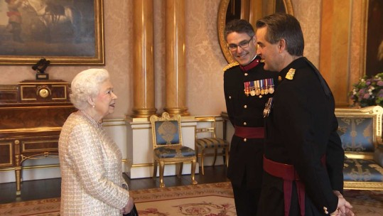 A Military Audience With The Queen