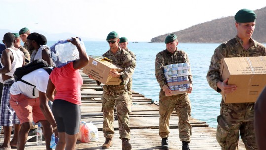 Marines Aid British Virgin Islands