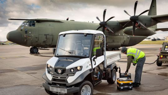 BLURRED RAF Brize Norton has been conducting trials of three new Ultra-Low Emission Vehicles (ULEVs) across the Station 18022021 CREDIT RAF