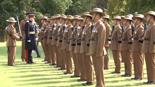 Soldiers from the Brigade of Gurkhas.
