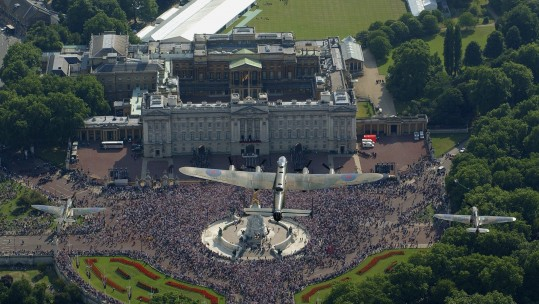 Battle of Britain Memorial Flight over Buckingham Palace