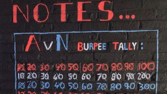 Beth Dainton's tally of Army v Navy burpee count 040520 CREDIT Beth Dainton.jpg