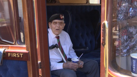 Taxi Veterans Board The Bluebell Express