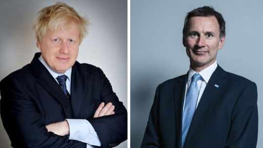 Boris Johnson vs Jeremy Hunt (Picture: Parliament).