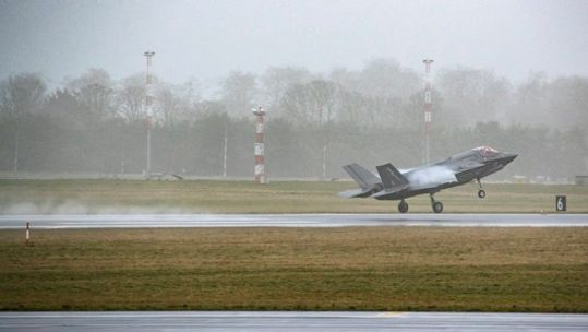British F-35B taking off from RAF Marham