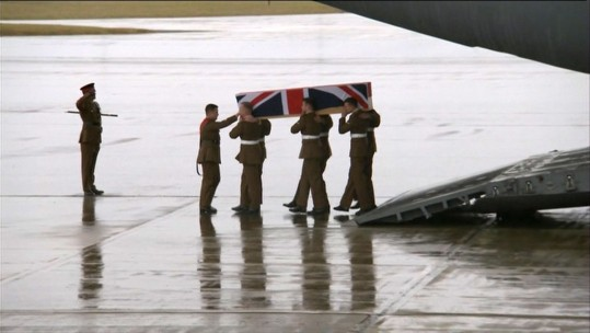 British Soldier Scott Hetherington Repatriated
