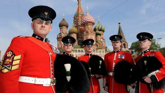 British Troops On Red Square - 2010