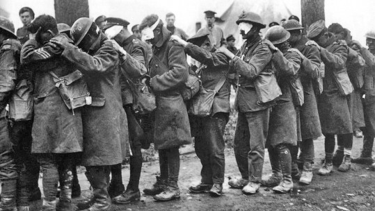 British mustard gas casualties