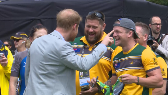 Prince Harry Asked To Sign Australian Team Speedos