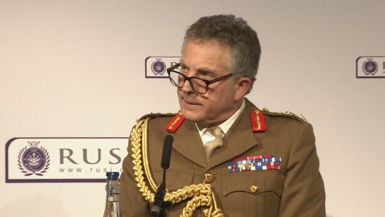 Chief of the Defence Staff General Sir Nicholas Carter at RUSI.