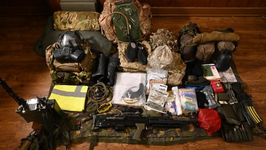 Kit and equipment for Cambrian Patrol. Credit: Georgina Coupe, BFBS