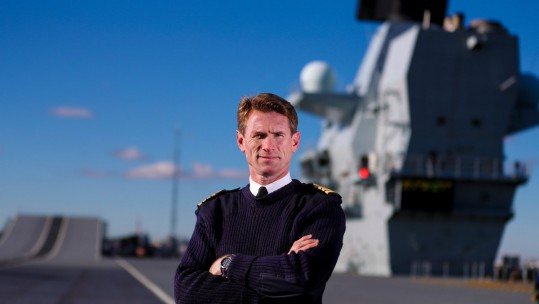 Capt Nick Cooke-Priest joined the Royal Navy in 1990 (Picture: HMS Queen Elizabeth/Twitter).