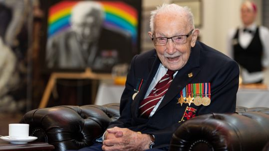 Cover image: Captain Sir Tom Moore at the Army Foundation College in Harrogate (Picture: MOD).