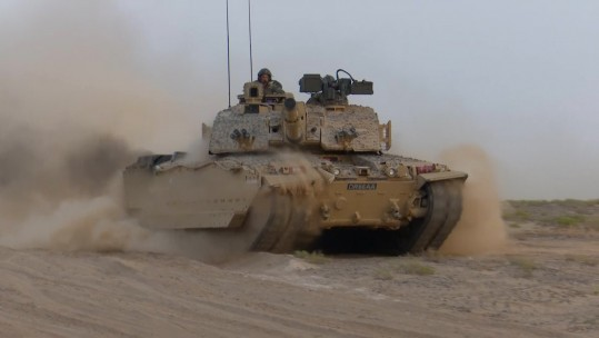 Challenger 2 on Ex Saif Seera in Oman
