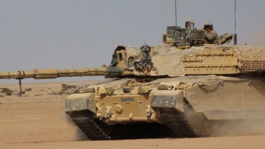 The Challenger 2 tank has had its desert capability tested in harsh conditions in Oman (Picture: British Army).